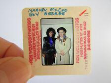 Original Press Photo Slide Negative - Boy George & Marilyn McCoo - Culture Club