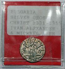 Bulgaria Ivan Alexander w/ Michael 1331-55, Ar Grosch Silver Coin