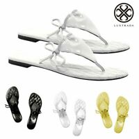 Summer Women Bohemia Flat Shoes Sandals Thong Slippers Flip Flops Beach Fashion