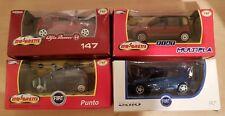 Miniature Majorette Cars model Fiat and Alfa Romeo