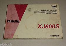 Owner´s Manual / Handleiding / Manual del propietario Yamaha XJ 600 S Diversion