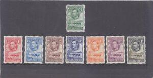 BECHUANALAND-KGVI-1938-SHORT SET TO 1/--SG 18-25-M/HINGE REM-$15 local freepost