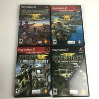 SOCOM US Navy Seals 1, 2, 3, and Combined Assault Playstation 2 Game Lot