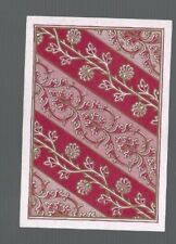 Playing  Cards1 ANTIQUE SQ CORNER BANDS OF FLOWERS & FOLIAGE HIGHLIGHTED IN GOLD