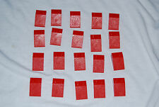 Lego Lot 20 Slope 3298 Red 2 x 3 GUC 31048 4795 6083 8157 10159 6478 10174