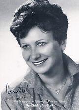 "Austria Hilde Hawlicek 1942- genuine autograph 4""x6"" photo signed"