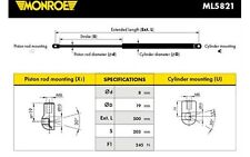 MONROE Muelle neumático, maletero/compartimento de carga trasero TOYOTA ML5821