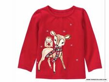 GYMBOREE Holiday Shop Deer Top NWT SIZE 18-24 MONTHS