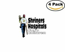 Shriners Hospitals 4 Stickers 4X4 inches Sticker Decal