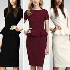 Knee Length Cotton Blend Skirts for Women