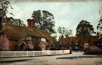 Canford England Dorset ~1910 Cottage Corner Landhaus Häuser Houses Wrench Series