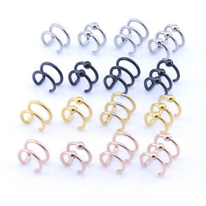 EAR CUFF Helix Cartilage Ear Ring Fake Clip On Cuff Wrap Upper Closure Ring