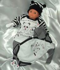 5 tlg. Baby Starterset Erstausstattung Gr.56 Motiv PANDA SET Baumwolle Jungen