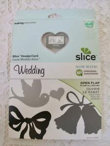 Making Memories Slice Wedding Design Card NEW Script Font Frames Flowers Bells