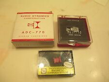 ADC 770 CARTRIDGE IN DISPLAY CASE AND NEW AFTER MARKET STYLUS IN DISPLAY CASE