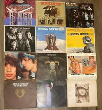 Vintage Lot (12) Vinyl LP's ROLLING STONES,RINGO,THE WHO,BEATLES & More!