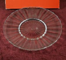 IN BOX VILLEROY & BOCH PALOMA PICASSO FLAT SALAD PLATE CLEAR CUT CRYSTAL GERMANY