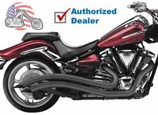 Cobra Black Speedster Swept Exhaust Pipes 2008-2016 Yamaha Raider XV1900C