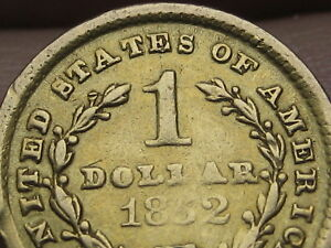 1852 O $1 Gold Liberty Head One Dollar Coin