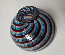 Murano Glass Vase Red Blue Clear Guaranteed Murano!