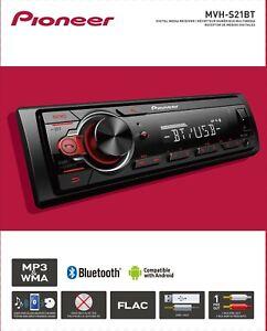 Pioneer Bluetooth Car Stereo Receiver AM/FM Radio Audio System MP3 USB In Dash