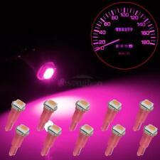 10Pcs 70 73 74 2721 T5 Dashboard Panel Gauge LED Wedge Bulbs Pink Light 5050-SMD