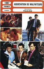 Movie Card. Fiche Cinéma. Association de malfaiteurs (France) Claude Zidi 1987