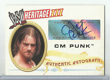2005 Topps Heritage WWE III CM Punk Auto/Autograph ECW
