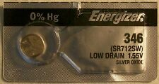 Energizer Watch Battery 346 replaces SR712SW, V346, and AWI S64