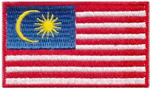 Malaysia Flag Small Iron On / Sew On Patch Badge 6 x 3.5cm Malaysian AIRSOFT