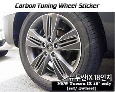 "Carbon Tuning Wheel Mask Sticker For Hyundai New Tucson ix / ix35 18"" [2013~on]"