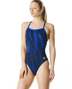 Speedo Women's Endurance+ Fierce Flyback Speedo Swimsuit Sz.28 NEW A577806691!