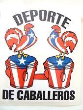 PUERTO RICO ROOSTER PELEA DE GALLOS DEPORTE DE CABALLEROS WITH CONGAS STICKERS