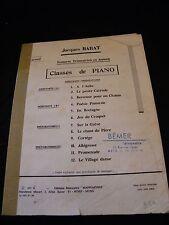 Partition Classes de piano Jacques Barat Grand Format
