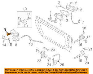 PORSCHE OEM 10-18 Panamera Front Door-Lock Screw WHT003688