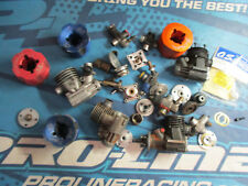 1/8 buggy truck engine, motor parts lot, rb products, concepts, o.s. vintage