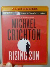 Rising Sun by Michael Crichton, MP3 CD audiobook, new, unabridged, FREE post!