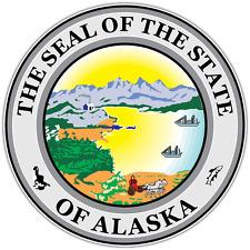 "Alaska State Seal USA Car Bumper Window Locker Vinyl Sticker Decal 4.6""X4.6"""