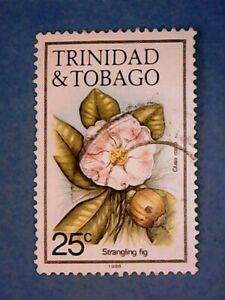 Trinidad & Tobago. QE2 1988 25c Flowers. SG690. Wmk Ww16 sideways. P14. Used.