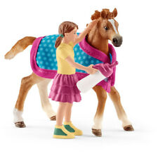Schleich Horse Club Foal Horse Toy Figure With Blanket 42361