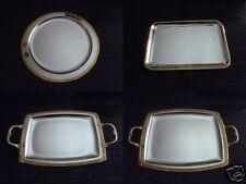 Servierplatten Kuchenplatten Tischdekoration Edelstahl versilbert und vergoldet