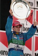 Giancarlo Fisichella Hand Signed Mild Seven Benetton Renault Podium Photo 12x8