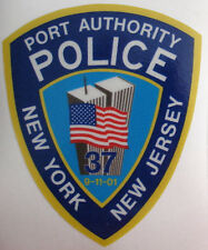 NEW NY NJ Port Authority 9-11 Memorial Police Reflective Sticker w/ Towers