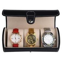 3 Slot Watch Travel Case PU Leather Roll Jewelry Organizer Storage Box Durable Z