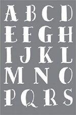 """Deco art en plastique urban ink alphabet a-z, lettrage pochoir 6"""" x 9"""" loup de mer neuf"""