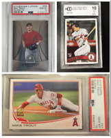 Mike Trout Mystery Pack Relic Auto Baseball Cards Rookie Edition