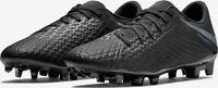 NIKE HYPERVENOM PHANTOM 3 ACADEMY FG FOOTBALL BOOTS  - UK 7.5, 8.5 & 10 - BLACK