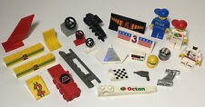 Lego Accessories Lot! Octan Racing! Figures + Spoilers Car Parts Helmet Steering
