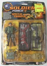 Vintage 1996 Solder Force 1V Special Trooper Action Figure & Machine Gun Weapons