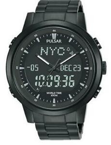 *Pulsar Gents World Time Stainless Steel Strap Watch - PZ4061X1 PNP